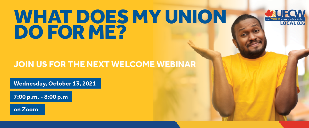 Join us for a welcome webinar on October 13 at 7pm